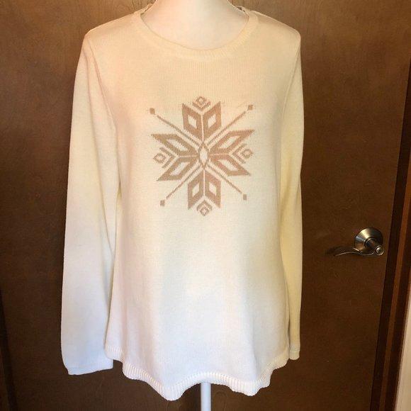 Croft & Barrow Snowflake Holiday Sweater